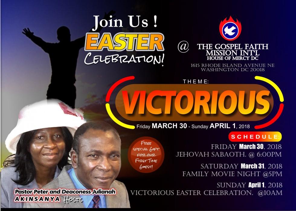 Easter Celebration - March 30 - April 1, 2018